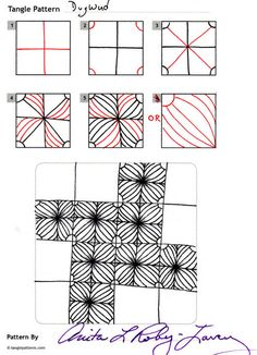 Online instructions for drawing CZT® Anita Roby-Lavery's Zentangle® pattern: DugWud. Zentangle Drawings, Doodles Zentangles, Doodle Drawings, Easy Zentangle, Tangle Doodle, Zen Doodle, Doodle Art, Zantangle Art, Zen Art