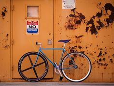 navy blue bicycle