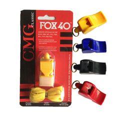 FOX 40 Fútbol fútbol Baloncesto Hockey Deportes de plástico mariposa zorro Clásico plástico Árbitro Silbato Silbido de La Supervivencia Al Aire Libre de armas nucleares