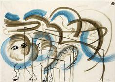 Sigmar Polke, Animal in blue (1983), via Artsy.net