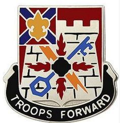 Special Troops Battalion, 116th Infantry Brigade Combat Team Unit Crest (Troops Forward)