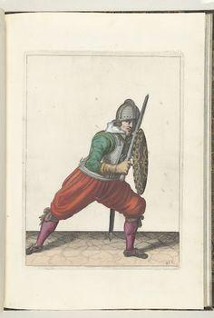 De exercitie met schild en spies no. 21 (1618)