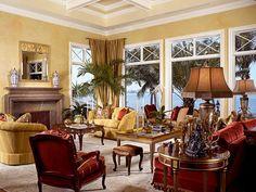 Traditional meets Florida - living room