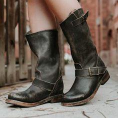 womens freebird by steven crosby black industry round toe boot
