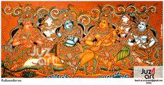 Radhamadhavam - Kerala Mural Art by Artist Aneesh Mepate (Juz4art) #juz4art, #mepatemurals, #kerala_mural_painting,  #Indian_art, #guruvayur, #aneesh_mepate, #jayasree_menon, #kerala_mural_art, #KeralaMurals, #Kerala_Murals, #Acrylic,