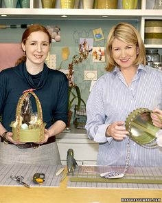 One of the most enduring children's holiday traditions is hunting for baskets filled with treats on Easter morning. Although you can purchase a ready-made basket, as TV stylist Cindy Treen demonstrates, you can easily create your own festive version with little more than a cookie tin, linen, and ribbon.