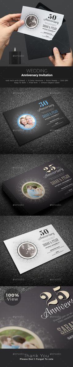Anniversary Invitation Anniversary invitations, Invitation - anniversary invitation template