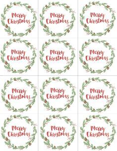 Mommy by day crafter by night free printable christmas gift tags free printable merry christmas gift tags negle Gallery