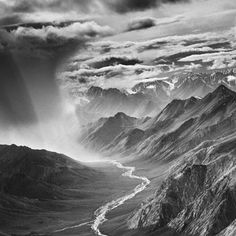 Sebastião Salgado  Part of Genesis series of photographs depicting untrammeled wilderness around the world, this dramatic Alaskan vista packs an Old Testament-worthy wallop.