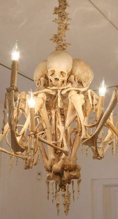 Unique skeleton inspired LED chandelier | House of Beccaria#