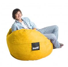 SLACKER sack foam bean bags are the most comfortable, fun and versatile pieces of furniture you can find. Perfect as a 1 Person/2 Small Children chair for a Bedroom. Makes a great Gaming Chair! Our generous amounts of high quality shredded (not chunk) foam and durable Microfiber covers ensure the highest quality product. We use a very strong zipper for extra strength and all the seams are double stitched...