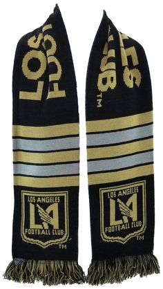 9e1947351 Get your Los Angeles Football Club scarf before their 2018 inaugural  season! Officially licensed MLS