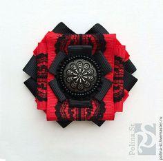 Купить брошь-орден 222 - черный, белый, красный, винтажный стиль, винтажные украшения, орден
