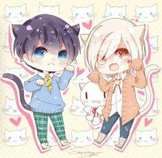 Neko no Soramafu Neko Boy, Chibi Boy, Kawaii Chibi, Cute Chibi, Kawaii Cute, Kawaii Anime, Anime Oc, Anime Chibi, Anime Guys