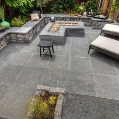 Fire Pit Seat Wall Design Ideas, Pictures, Remodel, and Decor