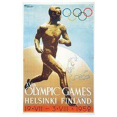 Juegos Olimpicos #JJOO de #Helsinki de 1959. Curiosamente en el estadio hay un albergue y un museo del deporte