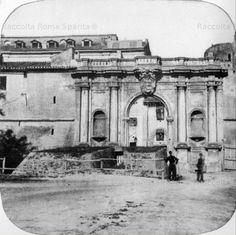 Porta Portese. Terrapieno eretto per la difesa della porta,in occasione del previsto attacco di Garibaldi nel 1867. Anno:1867