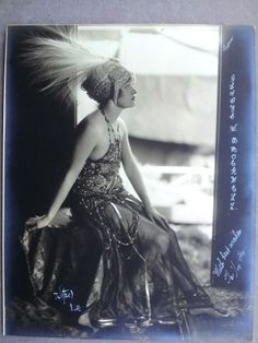 1917 VINTAGE AUTOGRAPHED PHOTO GLADYS BROCKWELL SILENT FILM ACTRESS FLAPPER