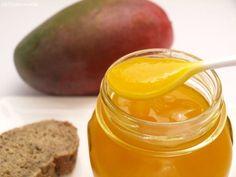 Mermelada de mango - MisThermorecetas.com Fruit Compote, Fruit Jam, Fruit Preserves, Sweet Recipes, Snack Recipes, Cooking Recipes, Marmalade Jam, Steak Breakfast, Venezuelan Food