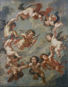 Putti: a ceiling decoration, Peter Paul Rubens, 1660