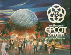 Vintage 1982 Epcot Center Pictorial Souvenir Walt Disney World Guide Book Walt Disney World, Disney Parks, Disney World Florida, Disney Worlds, Retro Disney, Disney Love, Disney Magic, Disney Stuff, Walt Disney Imagineering
