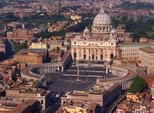 Veduta dall'alto dell'area di Città del Vaticano