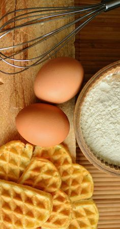Free food stock photo and image - waffles bake ingredients egg scrambled eggs food