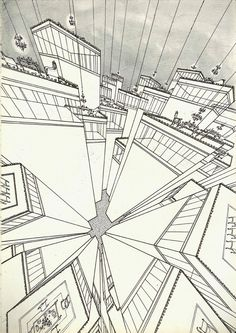 Living in a linear perspective by Vsevolod Volkov, via Behance
