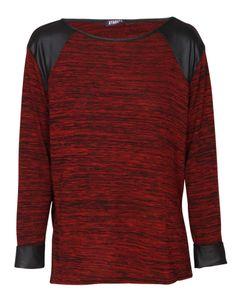 Wet Look Detail Long Sleeve Melange Top in Burgundy £ 12.95 #chiarafashion