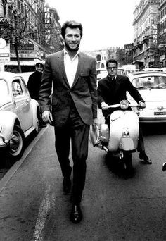 Clint Eastwood Rome 1960's... Why can't men be like this today???