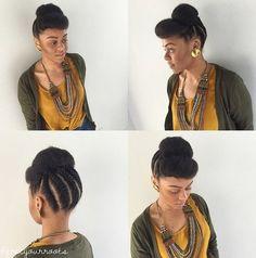 cute+braided+natural+updo