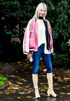 The Embroidered Bomber Jacket Just Won't Go Away—and That's a Good Thing via @WhoWhatWearUK