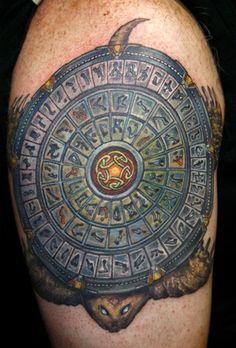 Stargate turtle tattoo by Todo of McDonough, GA
