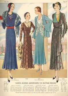 Pictorial Review Fashion Book, Fall 1931 featuring Pictorial 5711 (Madeleine), 5760, 5692 (Nicole Groult) and 5708 (Madeleine)