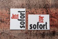 letterpress postcard. Gedruckt mit Holzlettern auf Gmund Cotton linen cream Letterpress, Cotton Linen, Poster, Company Logo, Cream, Logos, Human Rights, Social Equality, Men And Women