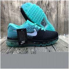 Nike Flyknit Max 2017 Couple running shoes Black jade