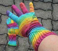 Tinas kreative Seite - Fingerhandschuhe - Opal - Regenbogen