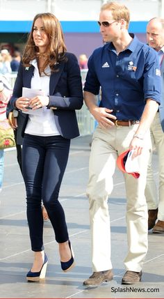 Will and Kate at the London Olympics