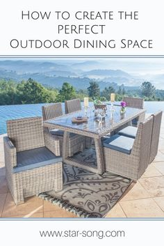 How to create the perfect outdoor dining space.  Such beautiful ideas, perfect for summer!
