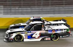 Todd Gilliland overcame damage to the No. 4 Mobil 1 Tundra to score another finish in the Strat 200 at Las Vegas Motor Speedway. Nascar Trucks, Nascar Racing, Kyle Busch Motorsports, Las Vegas Motor Speedway, Goodyear Tires, Kevin Harvick, Race Cars, Two By Two, Top