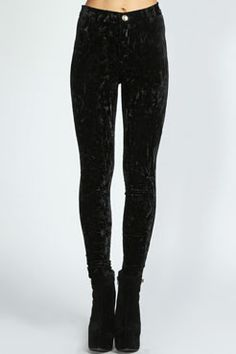 Frankie Crushed Velvet Disco Pants at boohoo.com