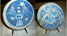 Nativity and Archangel Pottery Medals