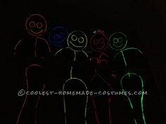 Awesome Glow in the Dark Stick Men and Women Group Costume (Took Less Than an Hour!)... Coolest Homemade Costumes
