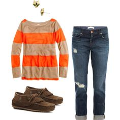 a casual fall outfit that isn't stained sweat pants // Polyvore