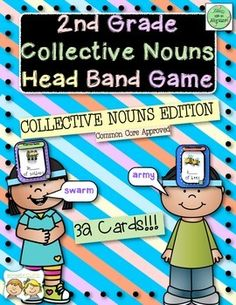 2nd Grade Collective Nouns Headband Game $2