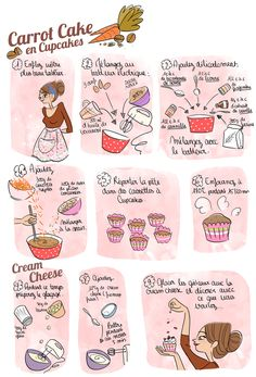 Recettes d'Automne -- Carrot Cake en Cupcakes (FR)  --> Lien URL MORT !! Pensez à Sauvegarder la Recette Illustrée...
