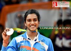 And here she is The first Indian women to win Silver in Olympics. Thank you, #PVSindhu Olympics News, Rio Olympics 2016, Summer Olympics, Badminton Match, P V Sindhu, 8 Facts, Athletic Events, Olympic Committee, Olympic Champion