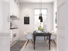 Who could have too much Scandinavian decor inspiration? This post tours three small apartments with one bedroom, each decorated in simple and sleek Nordic style One Bedroom Apartment, Home Decor Bedroom, Apartment Design, Gravity Home, White Interior Design, Beautiful Dining Rooms, Geometric Decor, Scandinavian Living, Scandinavian Interiors
