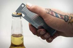 The Old Familiar Comb Bottle Opener is Made by a Barber for Barbers trendhunter.com