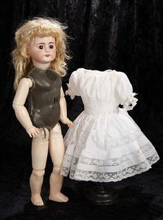 """""""Interlude"""" - Marquis Catalogued Auction - March 11, 2017: 275 German Bisque Doll, Model 719, with Rare Edison Phonograph Body"""